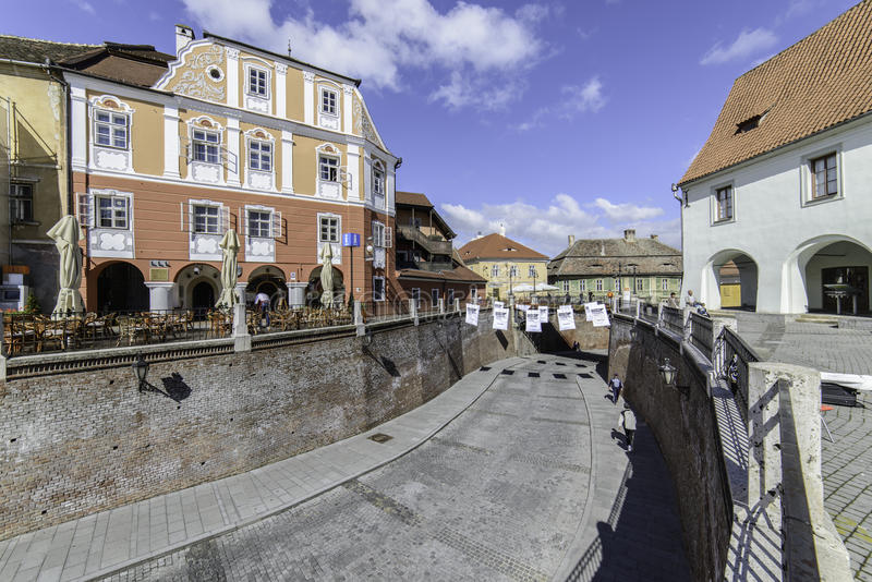 Sibiu, romania, europe, small square foreshortened royalty free stock photo