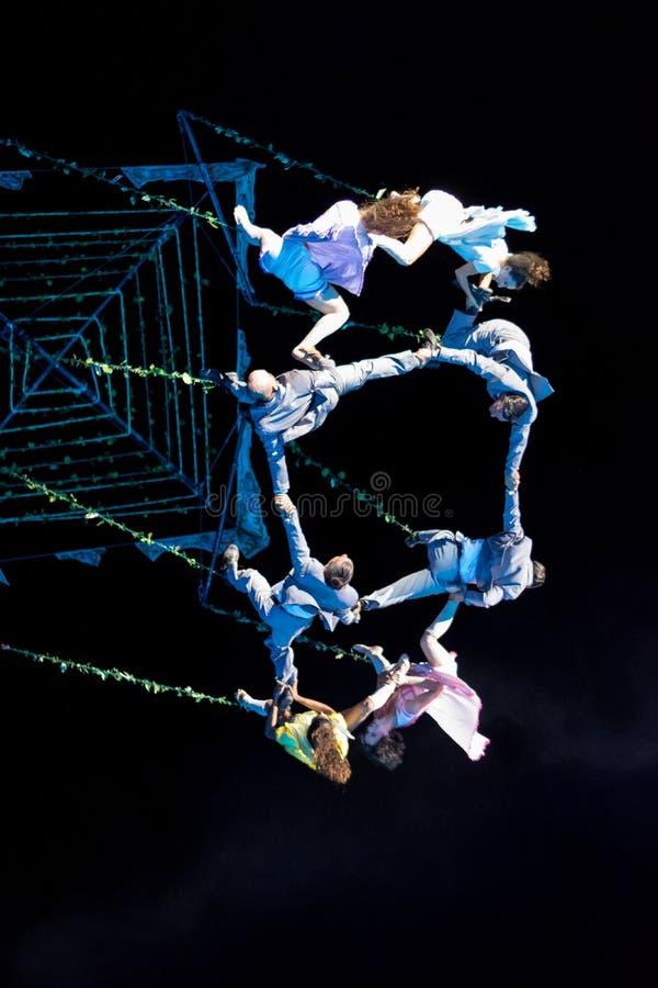 SIBIU, ROMANIA - 17 JUNE 2016: Members of the VOALA Station performing in the Big Square, during Sibiu International Theatre Festi. Val Festival, in Sibiu royalty free stock image