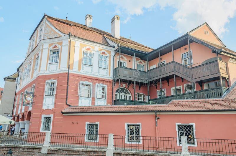 Sibiu, Rumania la casa Luxemburgo (casa Luxemburgo) Sibiu, Romnia la casa Luxemburgo (casa Luxemburgo) imágenes de archivo libres de regalías