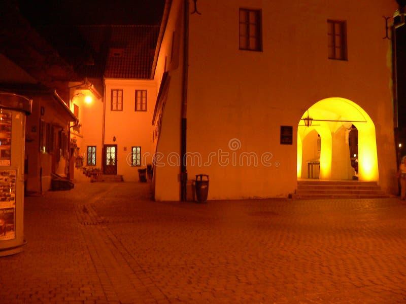 Sibiu, Rumunia - podróż i turystyka starego miasta fotografia stock