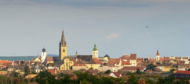 Sibiu skyline royalty free stock image