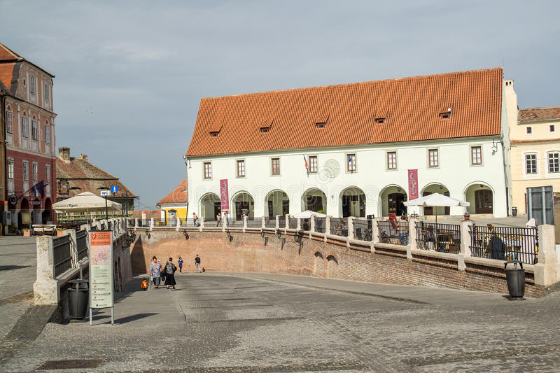 Download Sibiu Small Square editorial stock image. Image of history - 26914314