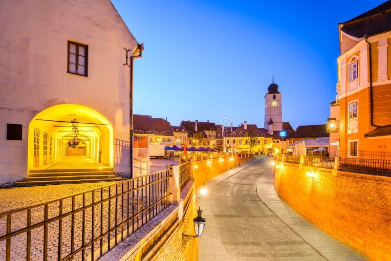 Sibiu, Transylvania, Romania - Lesser Square stock photo