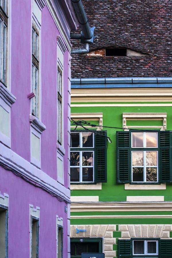 Sibiu - vecchia città fotografia stock