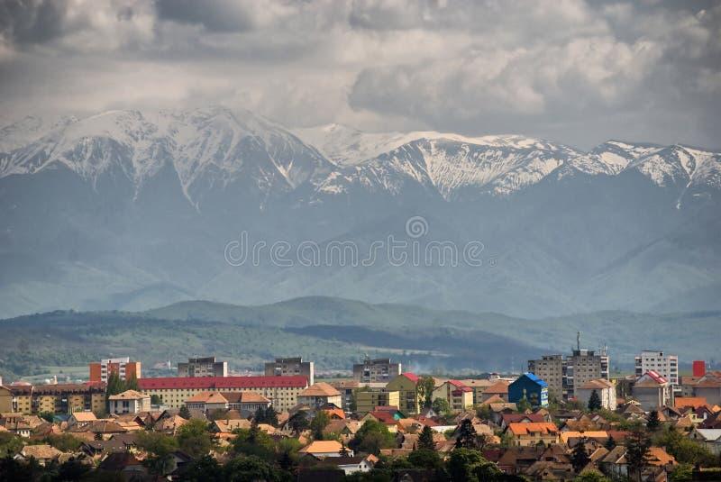 Sibiu-vista de sobre imagem de stock royalty free