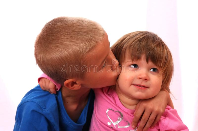 Sibling Affection stock photography