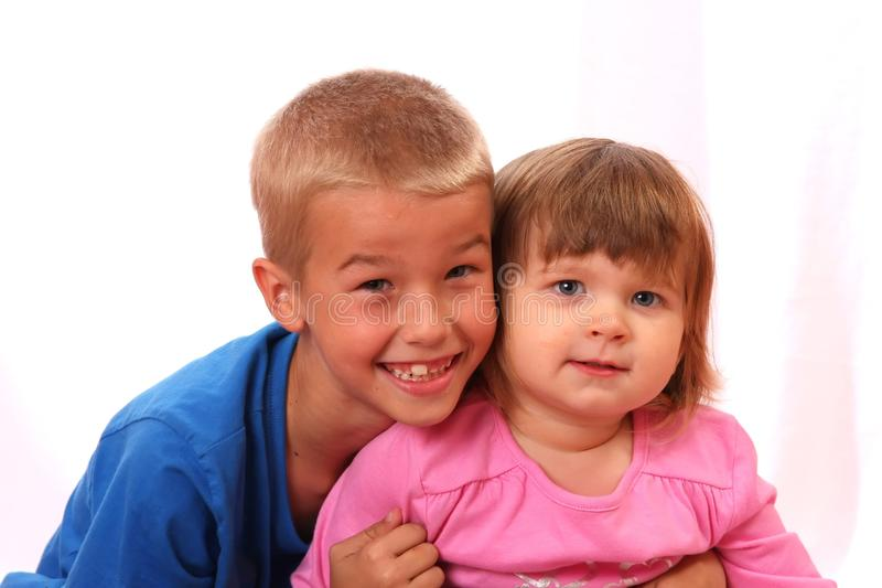 Sibling Boy and Girl royalty free stock image