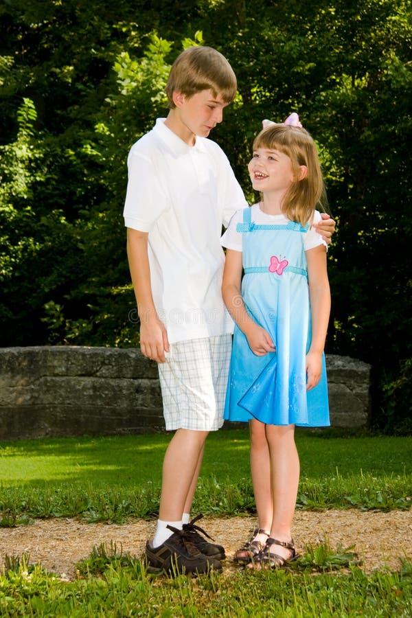 Sibling Liefde royalty-vrije stock foto