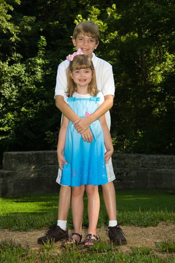 Sibling Liefde royalty-vrije stock fotografie