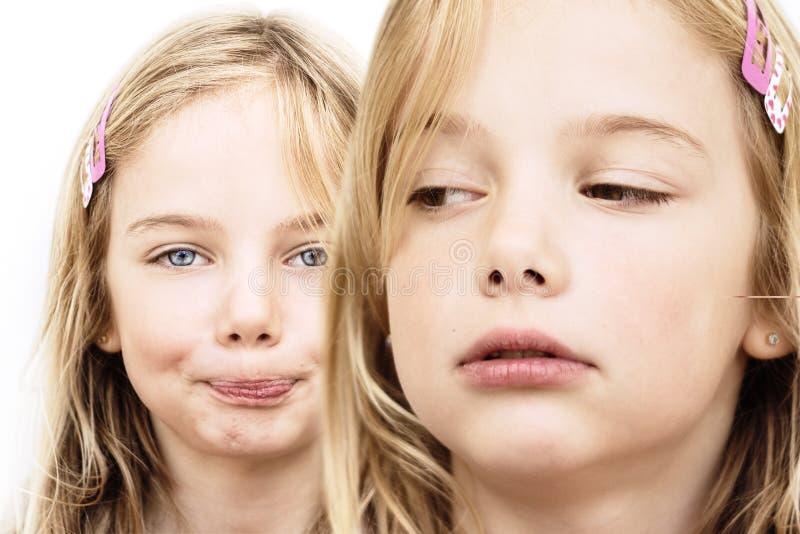 Sibling rivaliteit royalty-vrije stock afbeeldingen
