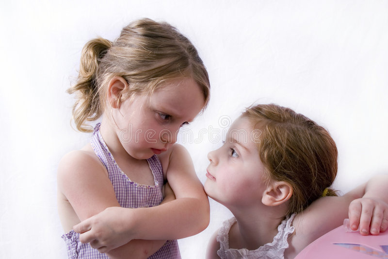 Sibling rivalry royalty free stock images