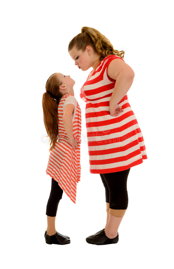 Free Sibling Rivalry Between Two Stubborn Sisters Stock Image - 24970211