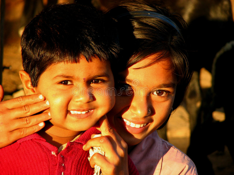 Sibling Smile royalty free stock photos