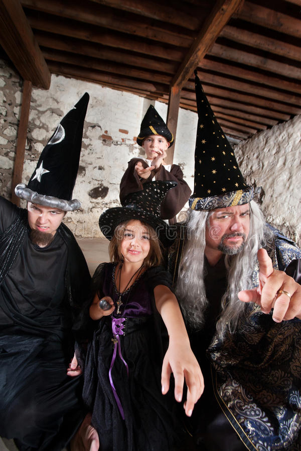 Download Sibling Wizards and Father stock photo. Image of four - 28555532