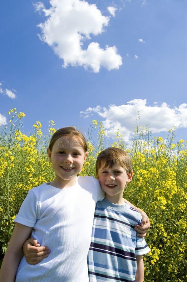 Siblings royalty-vrije stock foto