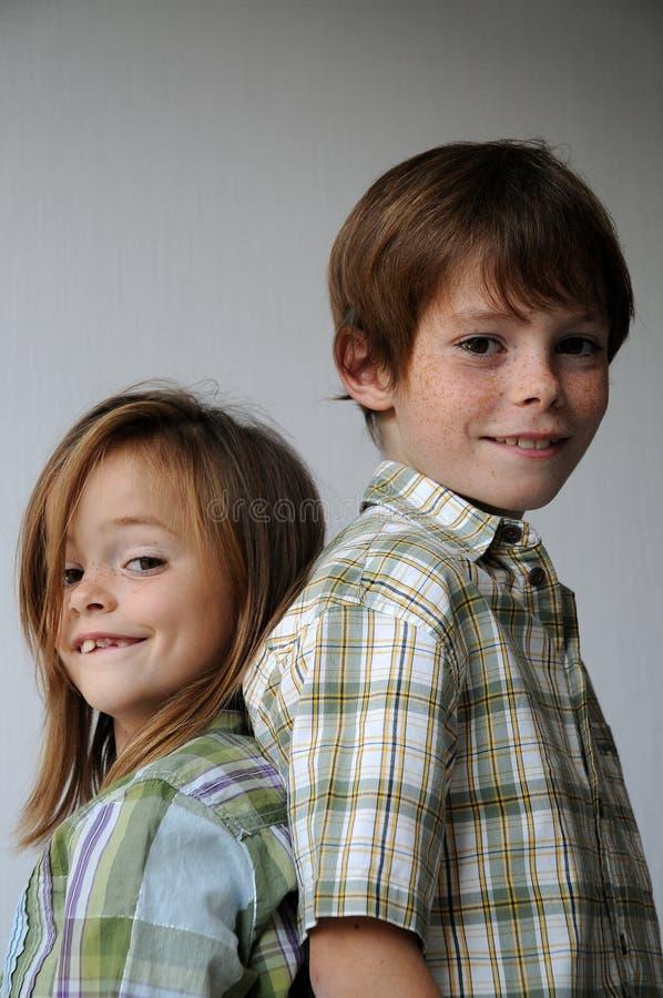 Siblings royalty-vrije stock afbeeldingen