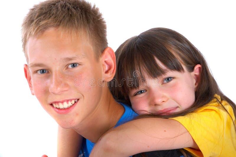 Siblings royalty-vrije stock foto's