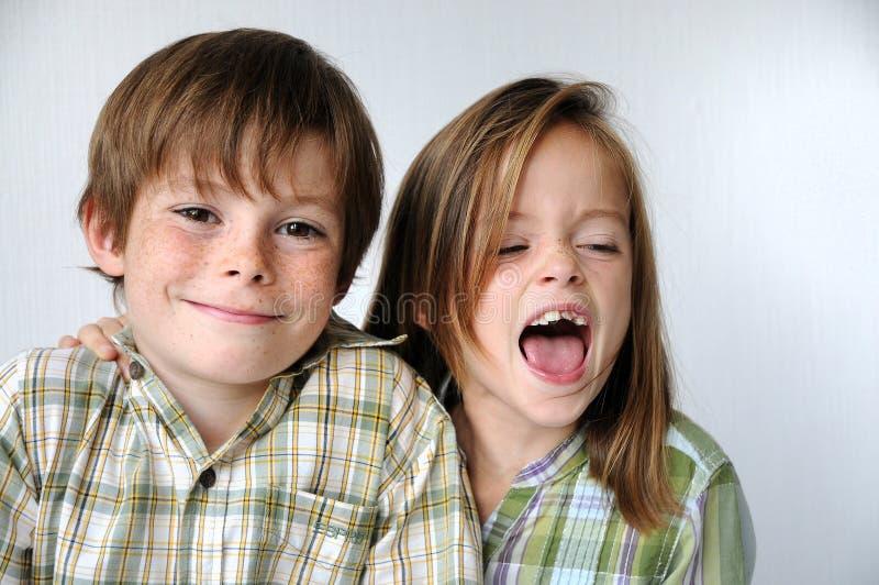 siblings immagine stock