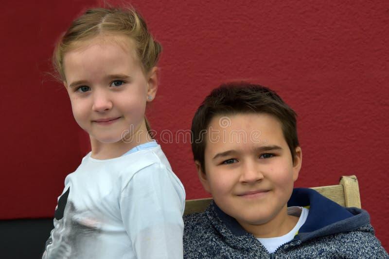 siblings fotografia de stock