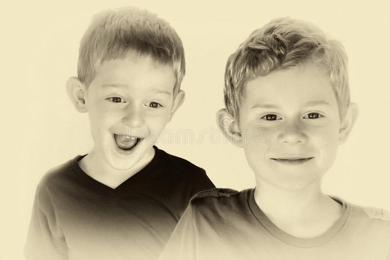 siblings imagens de stock royalty free