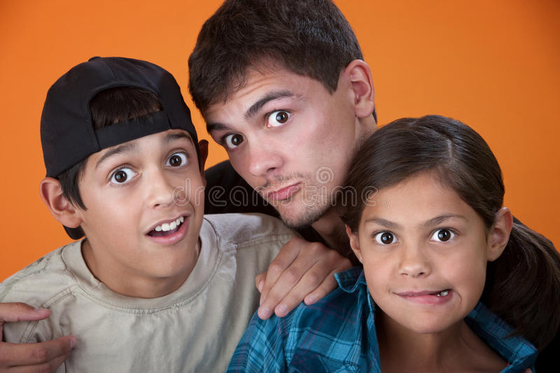 Download Siblings Making Faces stock image. Image of american - 18260247