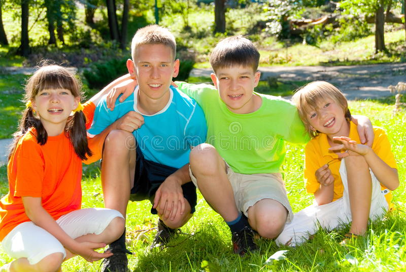 Download Siblings in the park stock image. Image of smile, girl - 10545209