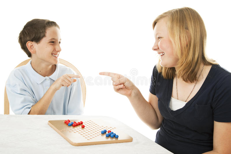 Download Siblings Play Games stock photo. Image of competition - 14388930