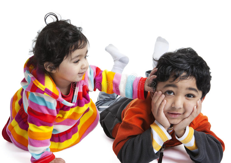 Download Siblings Playing With Each Other Stock Photo - Image: 17902150