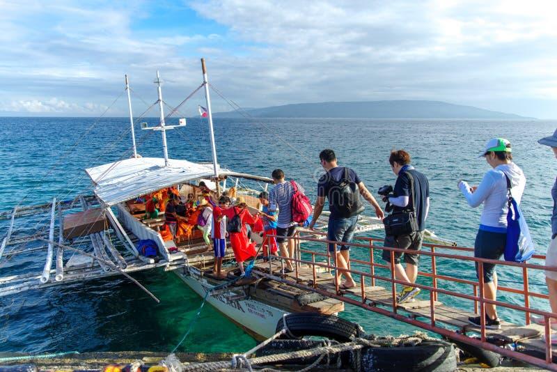 Sibulan portu Terminal przy Dumaguete miastem zdjęcia stock
