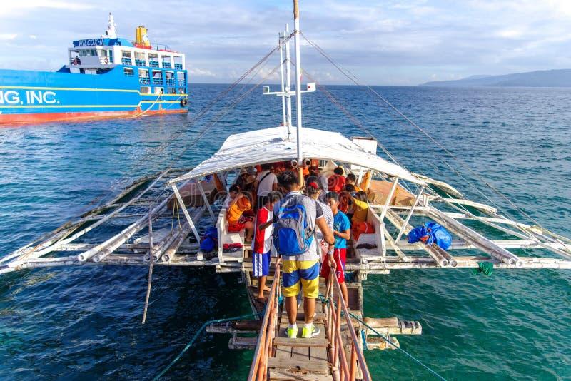 Sibulan portu Terminal przy Dumaguete miastem obrazy stock