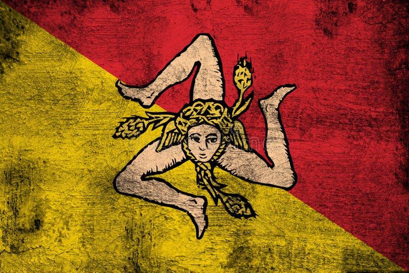 sicília ilustração royalty free