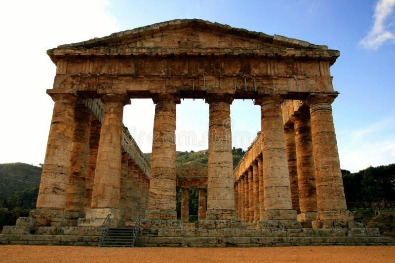 Sicília, ruínas gregas do templo fotos de stock royalty free