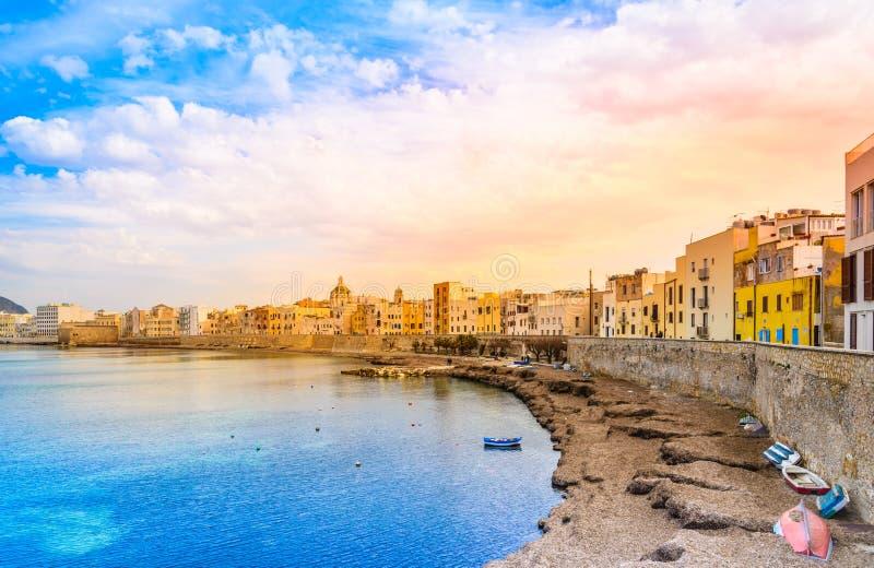 Sicília, Trapani, Itália fotografia de stock