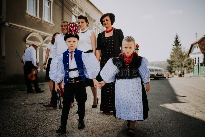 SIC Transilvania Ρουμανία 09 08 παραδοσιακή ημέρα γάμου του 2018 στο χωριό στοκ εικόνες με δικαίωμα ελεύθερης χρήσης