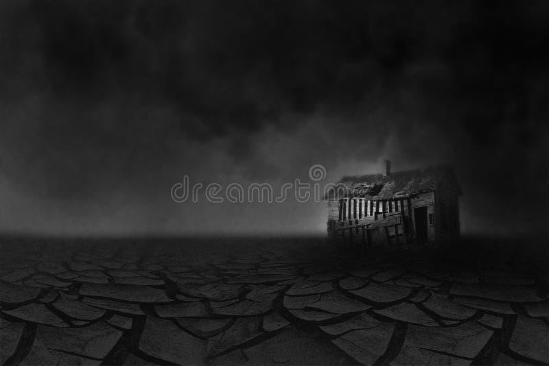 Siccità di Dust Bowl della grande depressione illustrazione vettoriale