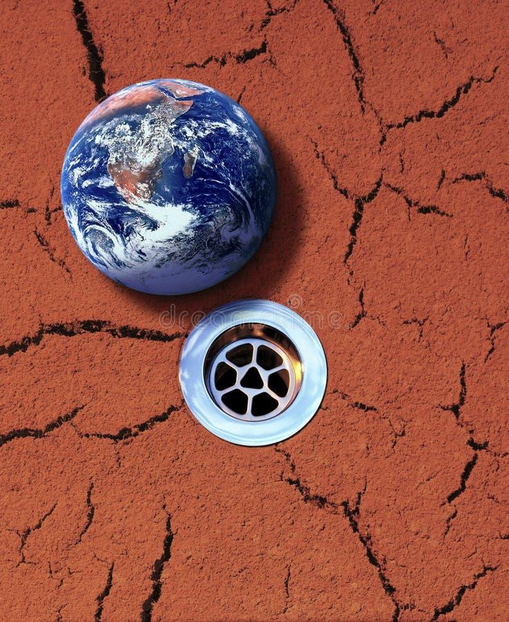 Siccità e conflitto dell'acqua fotografia stock libera da diritti