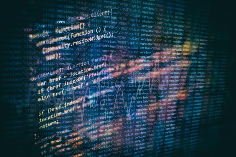 Sich entwickelnde Programmierung der Nahaufnahme und Kodierung von Technologien Entwickler, der an Websitecodes im B?ro arbeitet stockbild