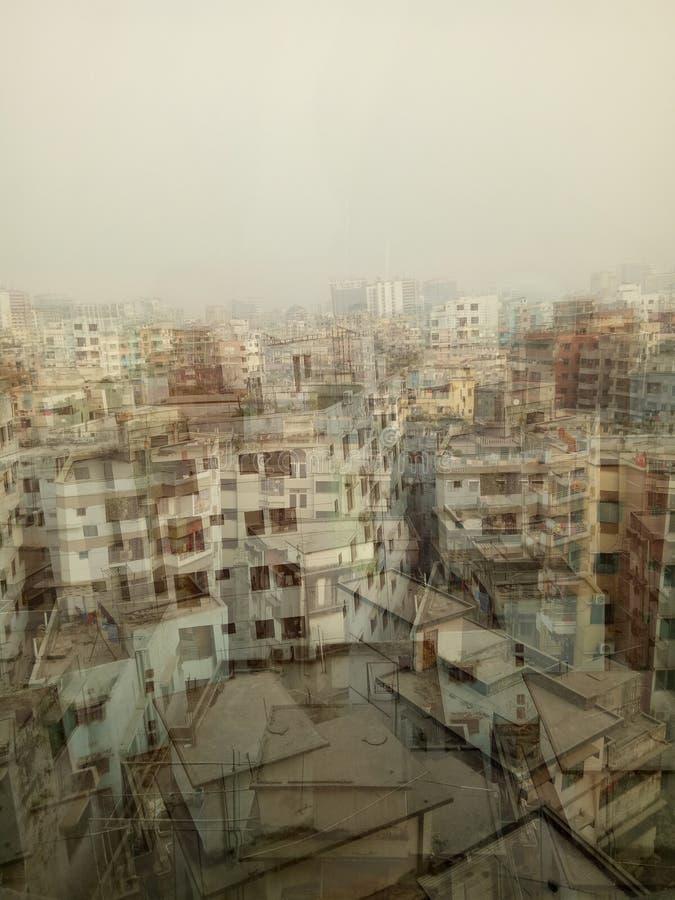 Sich entwickelnde Stadt der beschäftigten Stadt stockbild