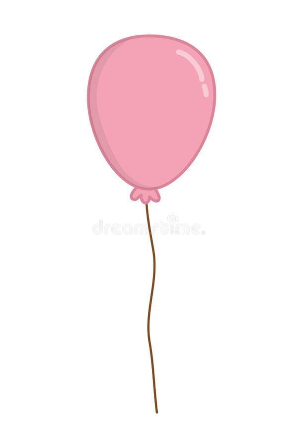 Sich hin- und herbewegende Ballon-Vektorillustration der Runde geformte vektor abbildung
