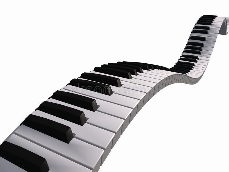Sich hin- und herbewegende Klaviertastatur vektor abbildung