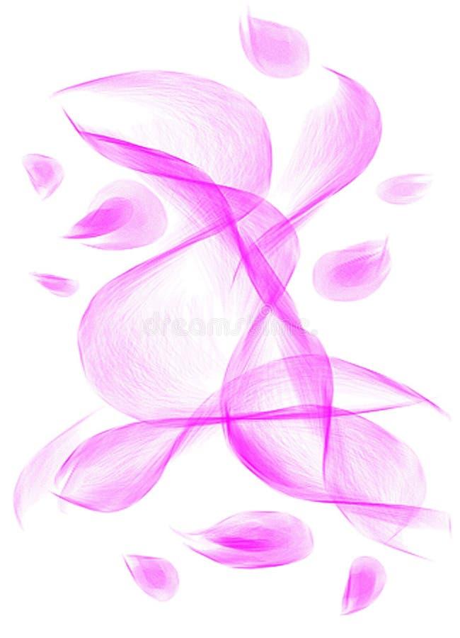 Sich hin- und herbewegende rosafarbene Blumenblätter in verwobenen Mustern lizenzfreie stockbilder