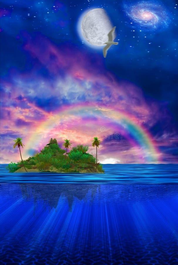Sich hin- und herbewegende tropische Insel stock abbildung