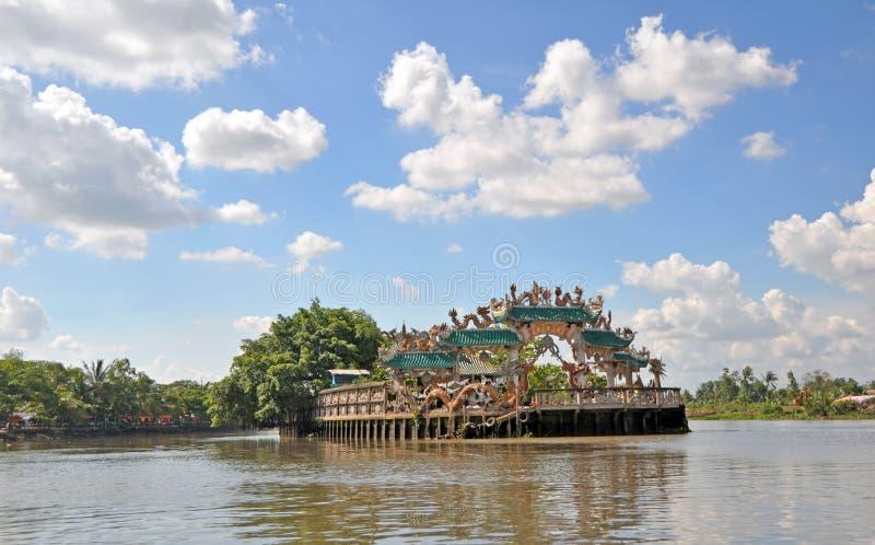 Sich hin- und herbewegender Perlen-Tempel, Ho Chi Minh City. lizenzfreies stockbild