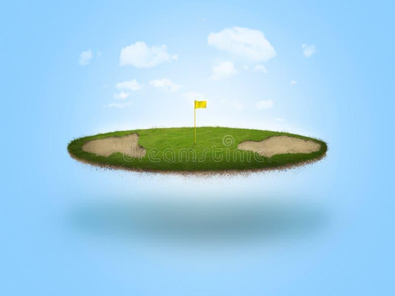Sich hin- und herbewegendes Golf-Grün stock abbildung