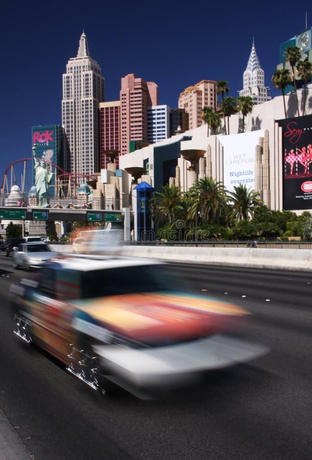 Sich schnell bewegender Vegas lizenzfreie stockbilder