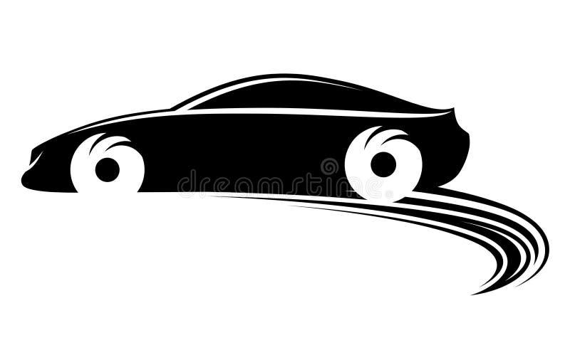 Sich schnell bewegendes Auto stock abbildung