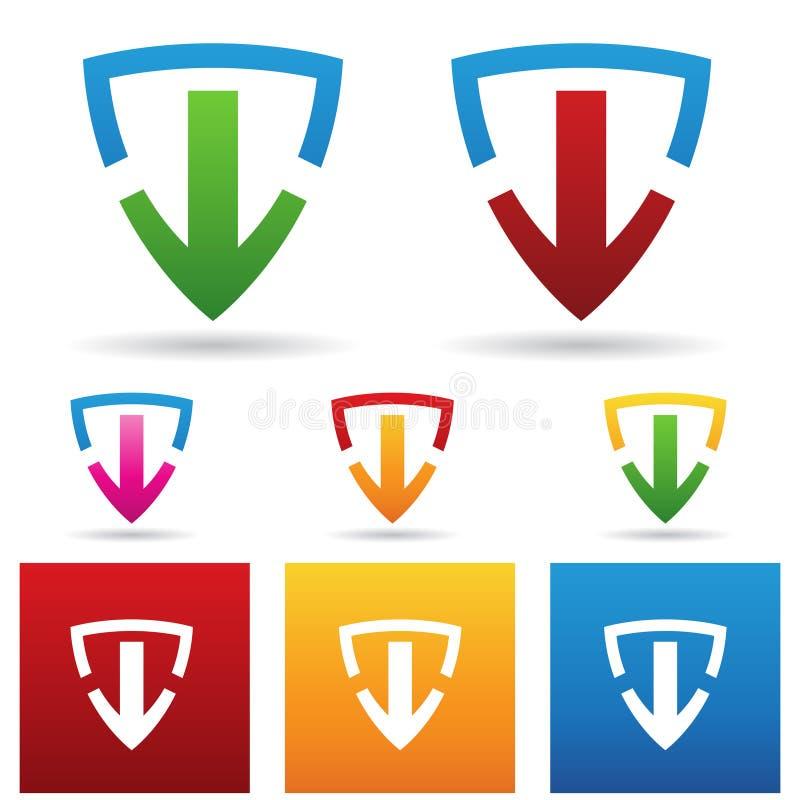 Sichere Download-Ikone vektor abbildung