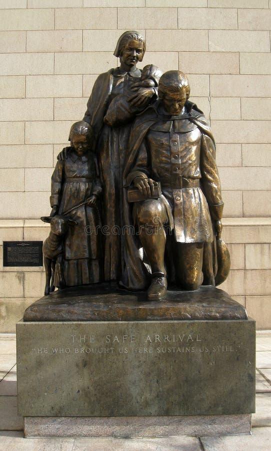 Sicheres Ankunfts-Denkmal in Hartford Connecticut lizenzfreies stockfoto