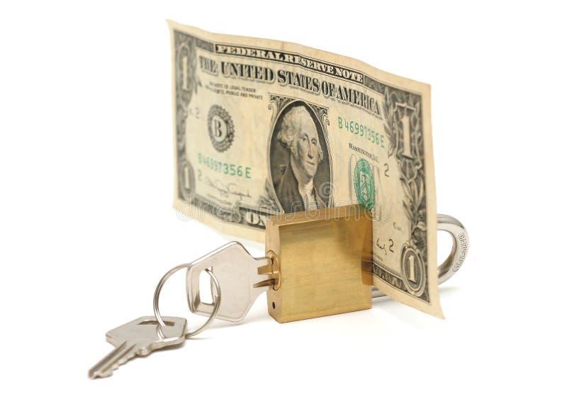 Sicheres Geld lizenzfreies stockfoto