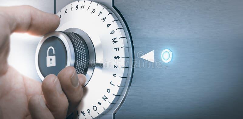 Sicheres und gesichertes Pasword-Konzept lizenzfreie stockfotografie